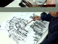 Пейзаж. Художник Лю Сунянь. В видеоуроке мастер китайской живописи гохуа объясняет и показывает приемы рисования отдельных элементов пейзажа и последовательное изображение готовой работы в стиле пейзаж.