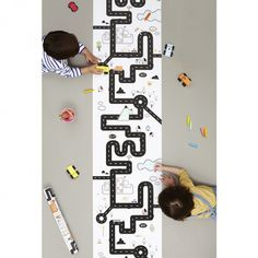 So much fun will be had with this Road design Playpa which can be coloured, decorated with stickers and then hung up on the wall! Shop now. Playroom Decor, Nursery Decor, Wall Decor, Road Painting, Painting For Kids, Kids Storage, Storage Baskets, Map Design, Creative Play