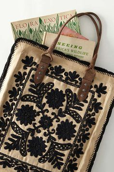 Anthropologie - Framed Needlepoint Tote