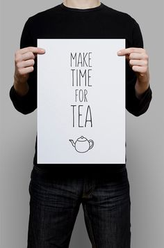 """""""Make Time for Tea"""" graphic print by ErhicoDesign"""