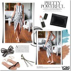 Yoins - Black and white dress summer!