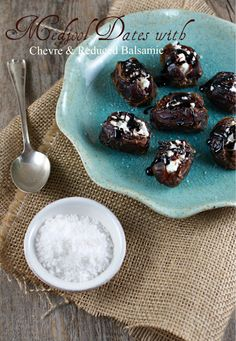 Medjool Dates with Chevre and Reduced Balsamic from @Lisa |Authentic Suburban Gourmet