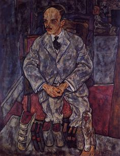 The Art Dealer Guido Arnot by @engonschiele #expressionism