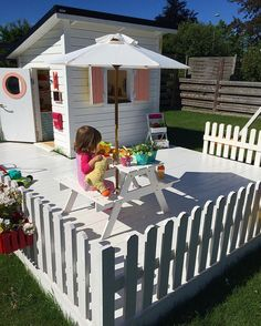All about her cubby house the blog is updated #ebbascafe #cubby #lekstuga #playhouse #legehus #kidsinspo