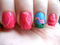billythebrime:  On Wednesdays, we wear pink… flamingos!  Love your manicure, terrified of your Silence user icon! :D