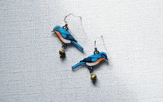Hey, I found this really awesome Etsy listing at https://www.etsy.com/listing/97282471/eastern-bluebird-earrings-shrink-plastic