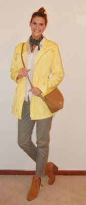 April Showers...Brings Out Anoraks!  Outfit #3 - Scout's Honor #Anorak #ChinoPants #Bandana