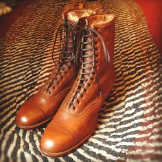 Vintage Deadstock 20s 30s Lace up dress boots