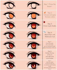 Eyes coloring tutorial v.2.0 by Deavelyn