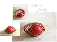 Red fire ring - copper wire and coral | Flickr - Photo Sharing!