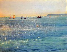 Painting by English watercolourist Richard Thorn Seascape Paintings, Landscape Paintings, Watercolor Paintings, Watercolours, Oil Paintings, Painting Art, Realistic Paintings, Watercolor Artists, Indian Paintings