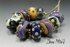 SRA HANDMADE LAMPWORK Glass Bead Set Donna Millard
