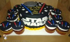 May the Force be with you in your quest for Star Wars Cake ideas. Here's a collection of cool Star Wars Cake ideas that'll help you find inspiration for making your own. Star Wars Birthday Cake, Star Wars Cake, Themed Birthday Cakes, Themed Cakes, Death Star Cake, Yoda Cake, Kids Party Decorations, Party Ideas, Fun Ideas