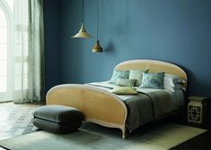 Painting: the new Zoffany colors - Marie Claire New Paint Colors, Bed Base, Decoration, Pink Blue, Furniture Design, Couch, Grey, Modern, Marie Claire