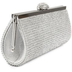 Ecosusi Women Elegant Evening Bag Party Clutch: Handbags: Amazon.com ($26) ❤ liked on Polyvore featuring bags, handbags, clutches, white purse, man bag, party purse, evening handbags and white clutches