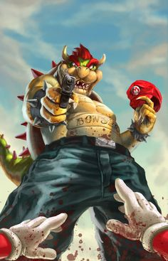 Game Over Created by Marc Rosete #Nintendo #Bowser #Mario