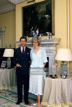Prince Charles, Prince of Wales and Diana, Princess of Wales at home in Kensington Palace  (Photo by Tim Graham/Getty Images)