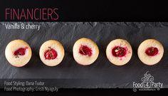 Financiers vanilla cherry Four, Food Styling, Macarons, Fondant, Gem, Food Photography, Cherry, Peach, Financier