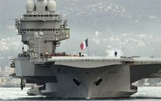 The French Navy aircraft carrier Charles de Gaulle produced about baguettes a day. - After the refit, the Charles de Gaulle can produce baguettes a day. American Aircraft Carriers, Military Engineering, Navy Aircraft Carrier, Gaulle, Merchant Marine, Military Operations, French Army, Armada, Red Army
