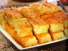 Receita de Bolo de mandioca, queijo e coco fresco do livro de receitas Cora Coralina
