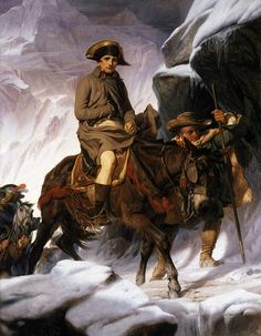 Napoleon Crossing the Alps Painting by Hippolyte Delaroche - Napoleon Crossing the Alps Fine Art Prints and Posters for Sale