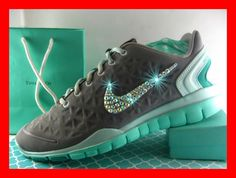 NIKE FREE TR FIT 2 RUNNING SHOES Volt Blue SWAROVSKI RHINESTONE  MINT  Size  8.5  Nike  RunningCrossTraining ee0a764e12