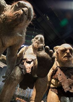 Meet William, Tom and Bert - the stone trolls from The Hobbit: An Unexpected Journey at the Weta Workshop booth at San Diego Comic-Con!