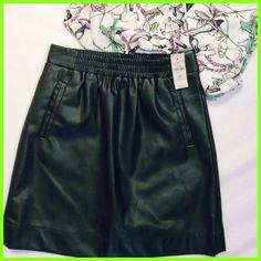 Ann Taylor LOFT Women's  Black Faux Leather Mini Skirt Sz XSmall petite NWT $69  | eBay