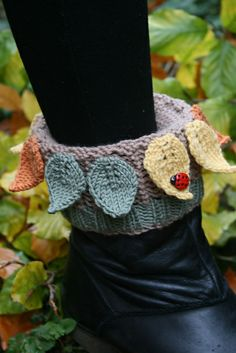 Ravelry: Leafy Boot Cuffs, Boot Toppers pattern by Sylvia Leake
