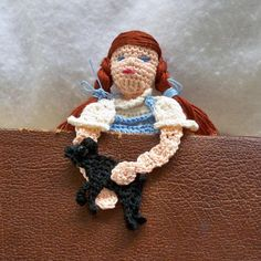 and here's Dorothy - crochet bookmark