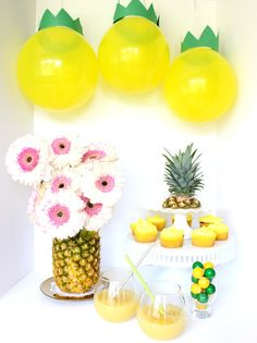 Candy table para fiesta hawaiana o tropical