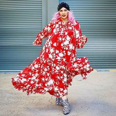 Printed maxi dress worn with zebra print booties and head wrap | Photo shared by Mel | For more style inspiration visit 40plusstyle.com