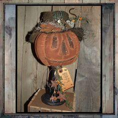 Primitive folkart instant download PDF pumpkin by lazydayzlucy, $8.00