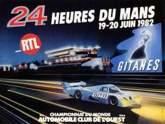 """Le Mans, 24h du Mans 1982 """"24 Hours of Le Mans 1982"""", original poster for the world famous car race."""
