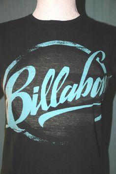 Billabong Adult Small Black & Blue T-Shirt ( S Surf Surfing Skater Skateboard ) #RivalMadness