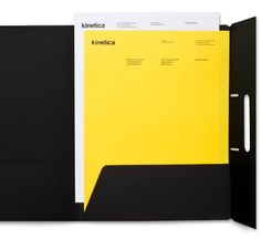 Logo and stationery design by Face for industrial design studio Kinetica