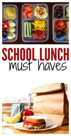 "If you are making lunches for your kids this year, then you need to see our ""Must Haves"" list! Sixsistersstuff.com"