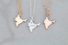 India Necklace Wanderlust Jewelry India Charm Country Asian