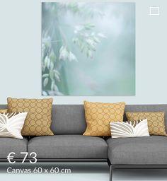 dreaming of green and blue van Elly van Veen op canvas, behang en meer Pretty Star, Blue Vans, Love Seat, Sofa, Stars, Canvas, Green, Furniture, Home Decor