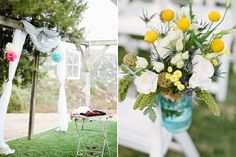 lemon and teal for paige  California Garden wedding | Photos by Birds of a Feather | 100 Layer Cake