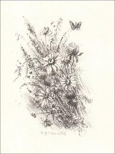 František Bílkovský - Luční kvítí (litografie)