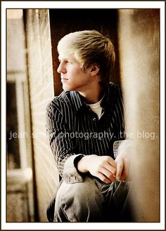 """boy senior pic... Why am I so in love with """"off camera gaze"""" shots today? I think he is turned a little too much!"""