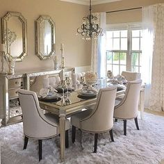 "5,769 Likes, 30 Comments - Z Gallerie (@zgallerie) on Instagram: ""#ZGallerieMoment: We love how @natalialuxehome mixed our Empire Dining Table with the Omni Mirrored…"""