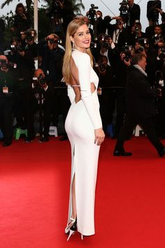 Doutzen Kroes is White Hot in Calvin Klein Collection at the 66th Annual Cannes Film Festival