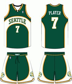 Seattle Supersonics Road Uniform 2002-2008 Louisville Basketball 162db27880