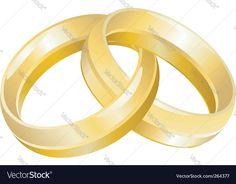 Wedding rings vector image on VectorStock Ship Vector, Fish Vector, Santa Sleigh Silhouette, Free Vector Images, Vector Free, Wedding Ring Vector, Scorpio Star Sign, Vector Robot, Cloud Illustration
