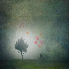 'Balloons in the mist' by artskratches on artflakes.com as poster or art print $22.17
