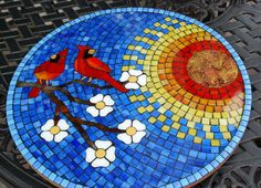 Lazy Susan Cardinal Mate Watch by NatureUnderGlass on Etsy