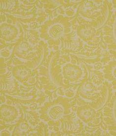 Beacon Hill Morning Dew Yellow Lotus Fabric