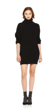 Shaker Knit Sweater Dress - perfect for winter office attire!